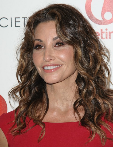 2014-Gina-Gershon-Hairstyles-–-Long-Curly-Hair Top 100 Celebrity Hairstyles 2019