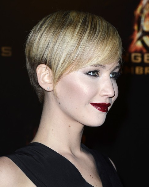 2014-Jennifer-Lawrence-Hairstyles-–-Best-Short-Pixie-Haircut Top 100 Celebrity Hairstyles 2019