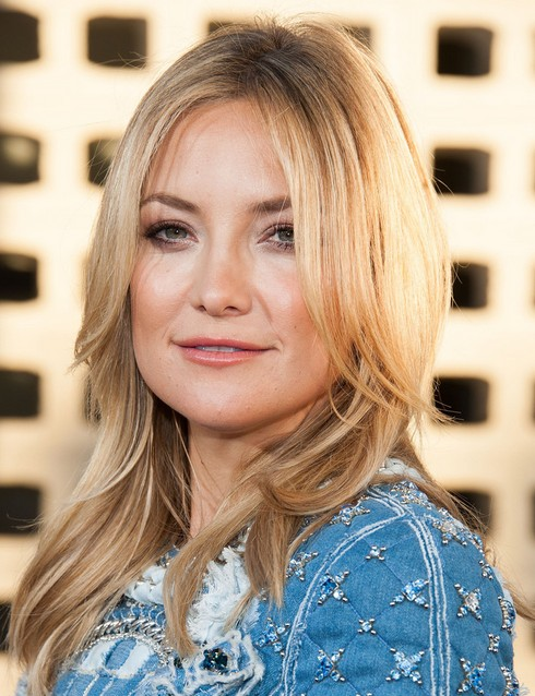 2014-Kate-Hudson-Hairstyles-–-Center-Part Top 100 Celebrity Hairstyles 2019