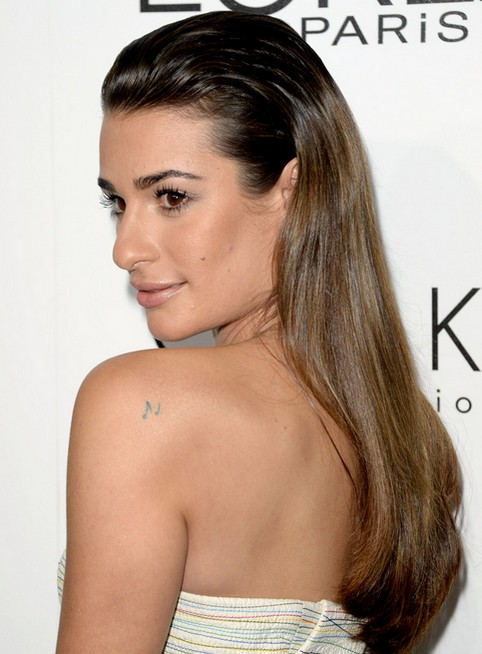 2014-Lea-Michele-Hairstyles-Ombre-Straight-Hair Top 100 Celebrity Hairstyles 2019