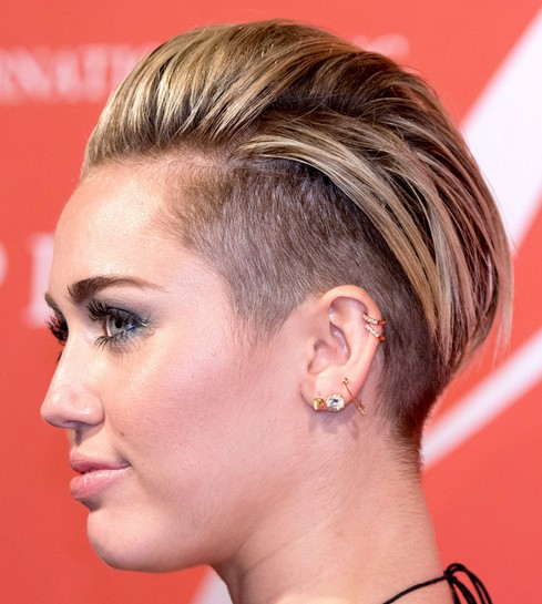 2014-Miley-Cyrus-Hairstyles-–-Trendy-Short-Haircut Top 100 Celebrity Hairstyles 2019