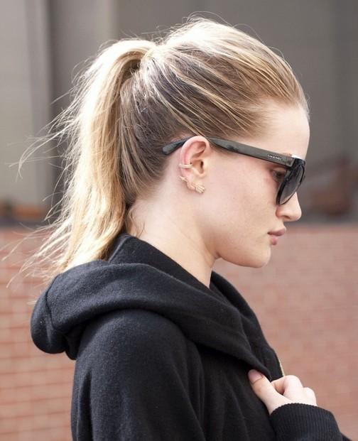 2014-Rosie-Huntington-Whiteley-Hairstyles-–-High-Ponytail Top 100 Celebrity Hairstyles 2019