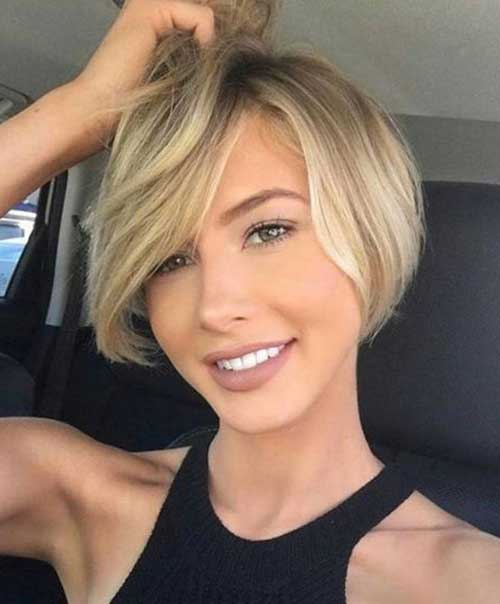 2018-Cute-Short-Hair-for-Round-Faces Short Haircuts for Round Face Shape