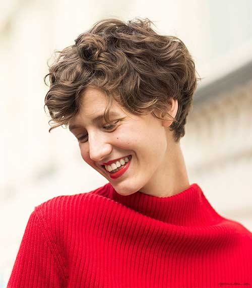 Awesome-Curly-Pixie-Cut-for-Trendy-Girls Short and Curly Hairstyles 2019