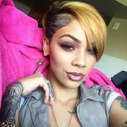 Black-Women-Asymmetrical-Haircut Latest Short Haircuts for Women - Short Hairstyle