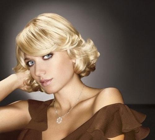 Blonde-short-wavy-hair Hairstyles for Short Wavy Hair