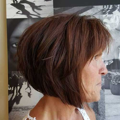 Bob-Haircut-with-Bangs 2019 Short Haircuts for Older Women