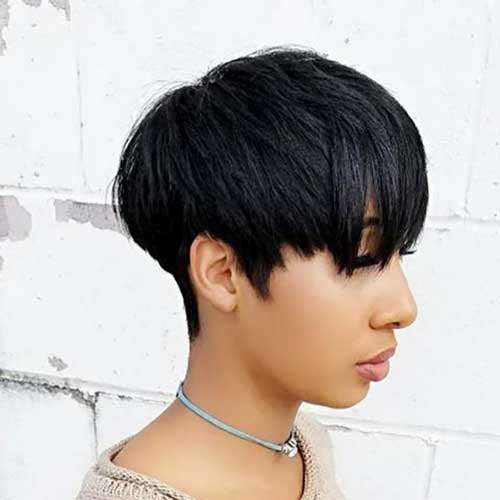 Bowl-Pixie-Style Easy Short Hairstyles for Black Women 2019