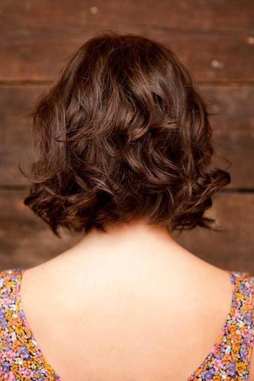 Brown-Short-Layered-Curly-Hair-Back-Look Best Short Layered Curly Hair