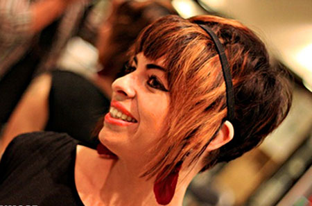 Brown-and-Orange-Colored-Asymmetrical-Haircut Short Haircuts and Color Ideas