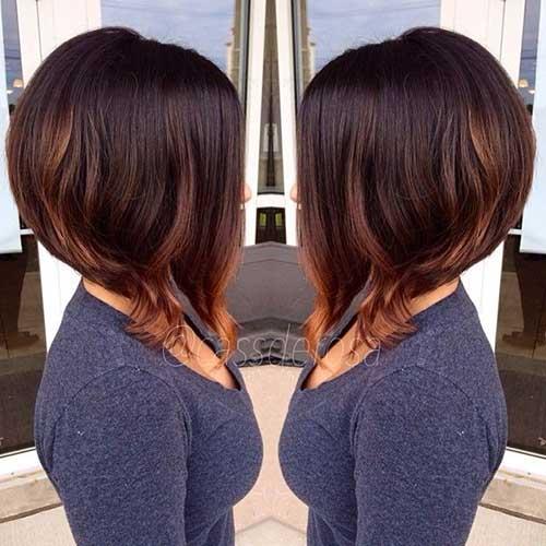 Brunette-Bob-Hair-with-Highlights Brunette Bob Hairstyles 2019