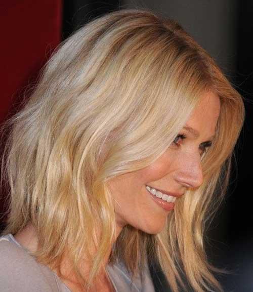 Casual-Pretty-Blonde-Medium-Length-Hairdo Short Medium Hairstyles 2019