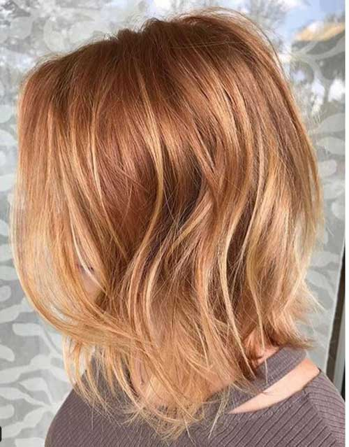 Copper-Red-Hair-Color-2019 Latest Trend Hair Color Ideas for Short Hair