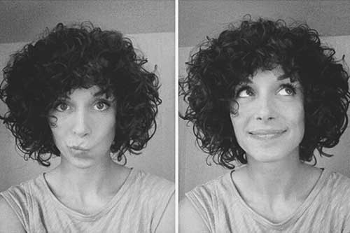 Curly-Hair-Like-Afro-Style-for-Cute-Girls Short and Curly Hairstyles 2019