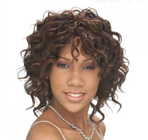Curly-Short-Weave-Hairdo-for-Women Beautiful Short Curly Weave Hairstyles 2019