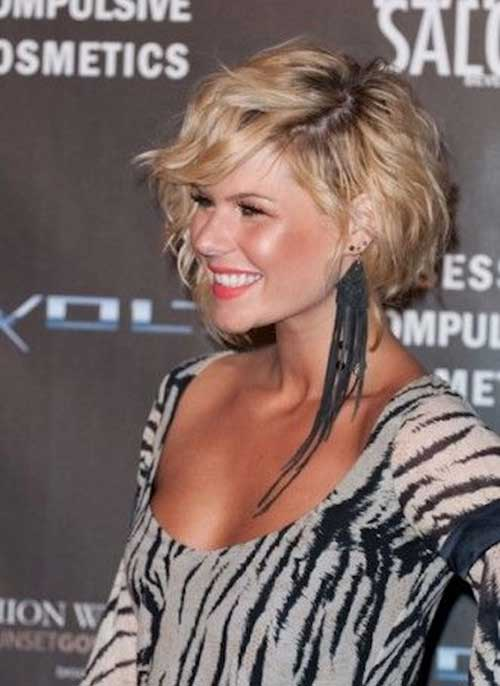 Cutest-Short-Curly-Layered-Bob-Haircut Best Short Layered Curly Hair