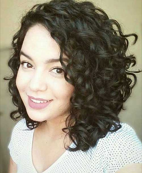 Dark-Naturally-Curly-Hair Alluring Short Curly Hair Ideas for Summertime