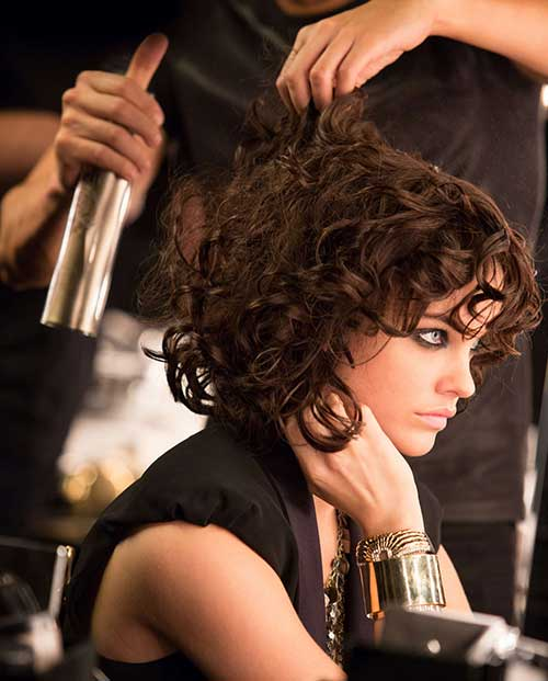 Elegant-Short-Wavy-Bob Very Short Curly Hair 2019