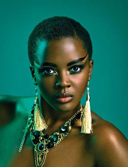 Extremely-Short-Natural-Look Nice Short Haircuts for Black Women