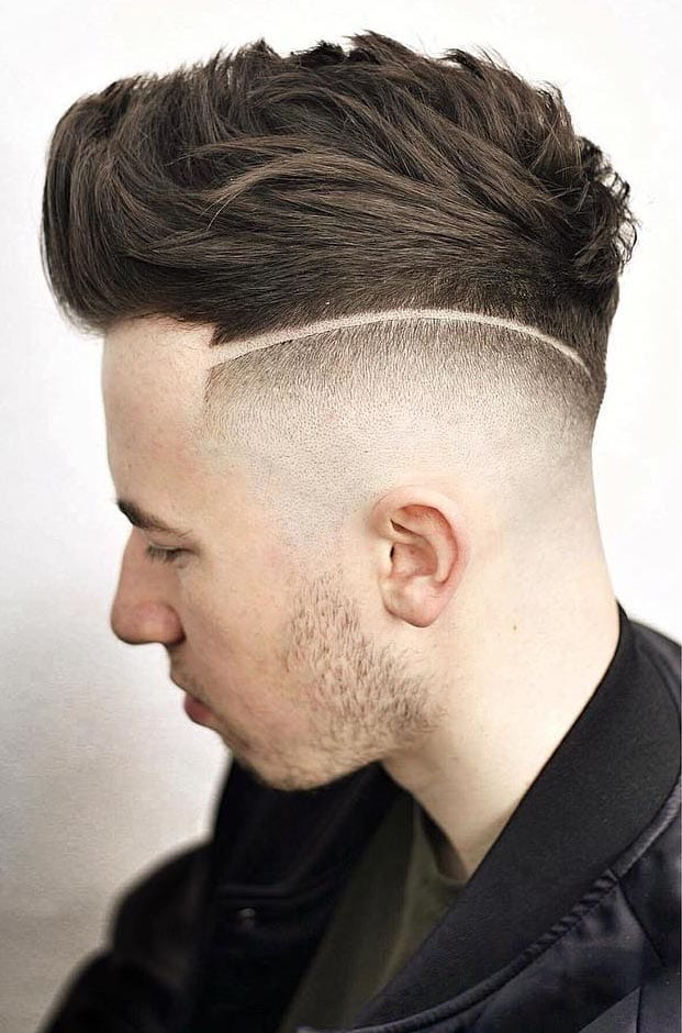 Faux-Hawk-with-Disconnected-High-Skin-Fade Stylish Undercut Hairstyle Variations For 2019