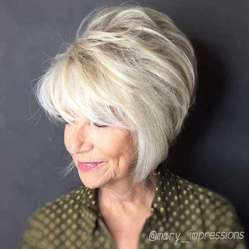 Flattering-Hair-Style 2019 Short Haircuts for Older Women