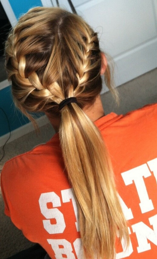 French-Braid-Ponytail-for-Kids Cute French Braid Hairstyles for Girls