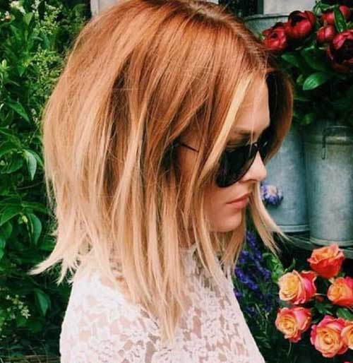 Ginger-Blonde-Hair Latest Trend Hair Color Ideas for Short Hair