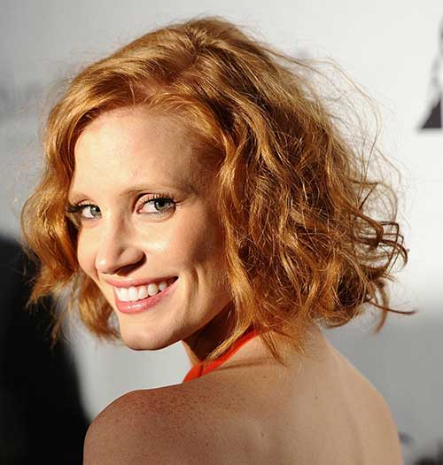 Ginger-Curly-Bob-Hairstyle-for-Older-Ladies Bob Hairstyles for Older Ladies