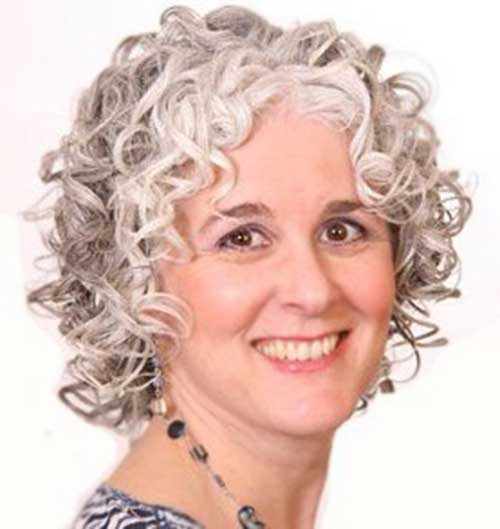 Gorgeous-Gray-Hairdo-for-Older-Women Short and Curly Hairstyles 2019