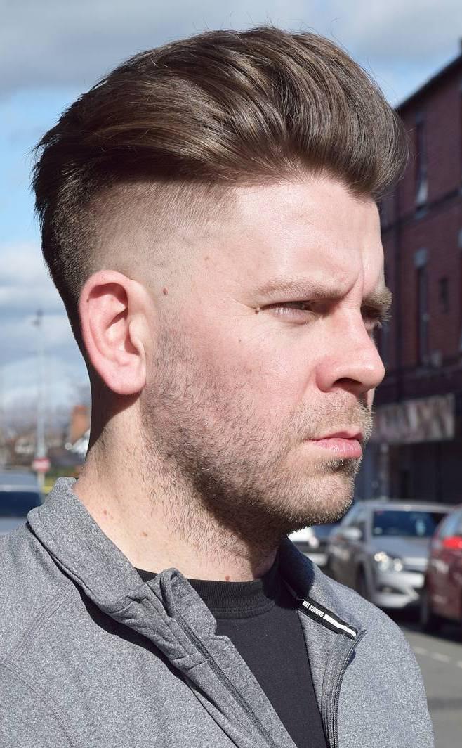 Irregular-Pushed-Back-Top Stylish Undercut Hairstyle Variations For 2019