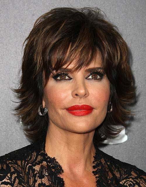 Layered-Bob-Hair-with-Bangs-for-Older-Ladies Bob Hairstyles for Older Ladies