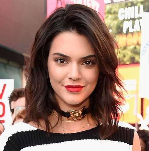 Layered-Bob-Haircut Kendall Jenner Short Hair Pics