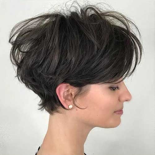 Layered-Long-Pixie Latest Short Haircuts for Women - Short Hairstyle