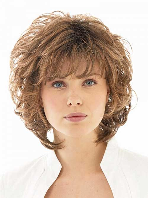 Light-Brown-Short-Curly-Haircut-with-Layers Best Short Layered Curly Hair