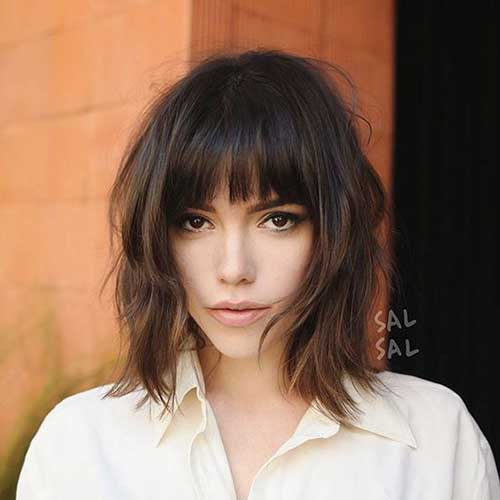 Lob-with-Bangs Latest Short Haircuts for Women - Short Hairstyle