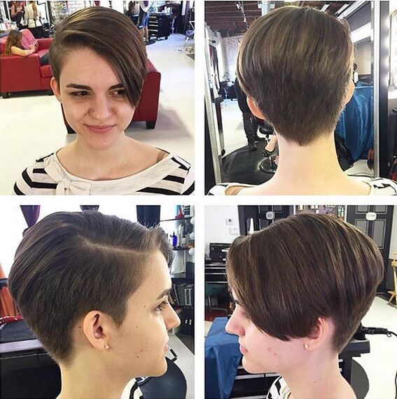 Long-Pixie-Haircut-for-Girls Awesome Undercut Hairstyles for Girls