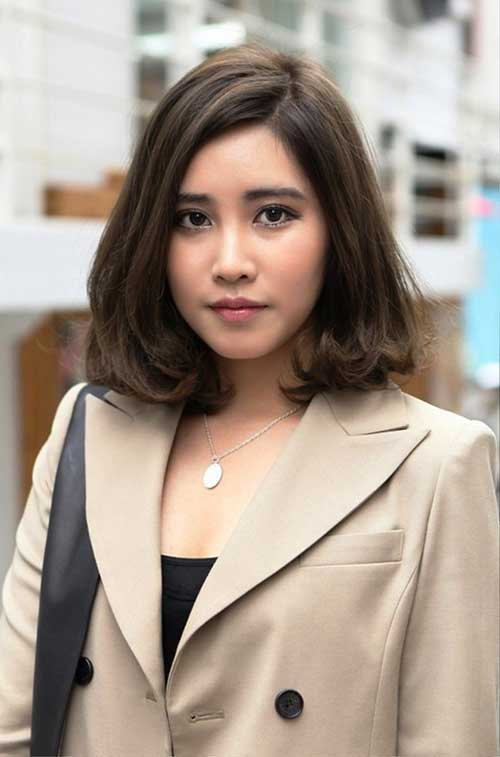 Lovely-Japanese-Brown-Hairdo Short Medium Hairstyles 2019