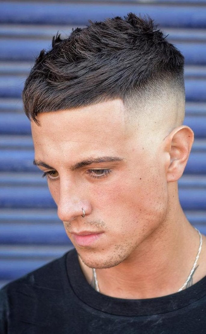 Low-Key-Faux-with-Angular-Fringe Stylish Undercut Hairstyle Variations For 2019