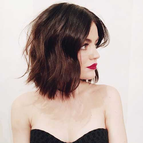 Lucy-Hale-Short-Hair Wavy Short Hair Styles for Chic Ladies