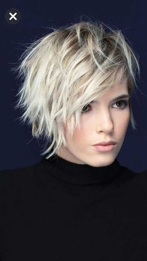 Messy-Short-Hairstyle Best Pics of Layered Short Hair for Round Face
