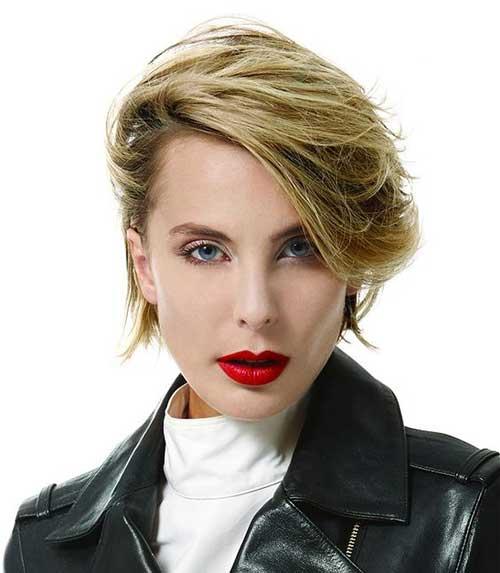 Modern-Cut Short Haircuts for Round Face Shape