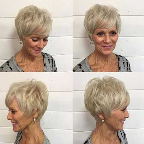 Modern-Short-Hairstyle-Thin-Hair Short Hairstyles for Older Women with Thin Hair