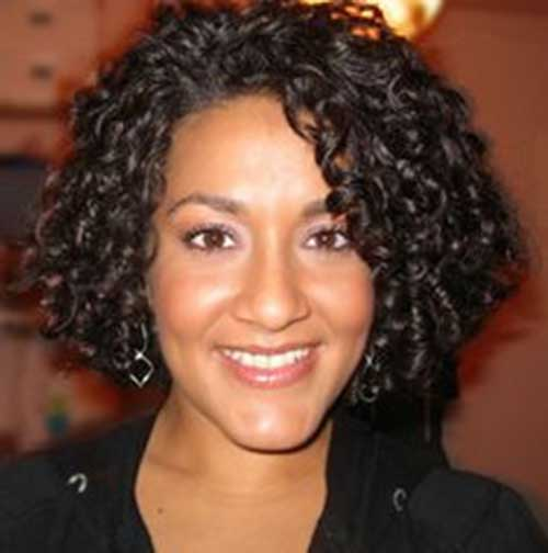 Natural-Dark-Thick-Curls Short and Curly Hairstyles 2019