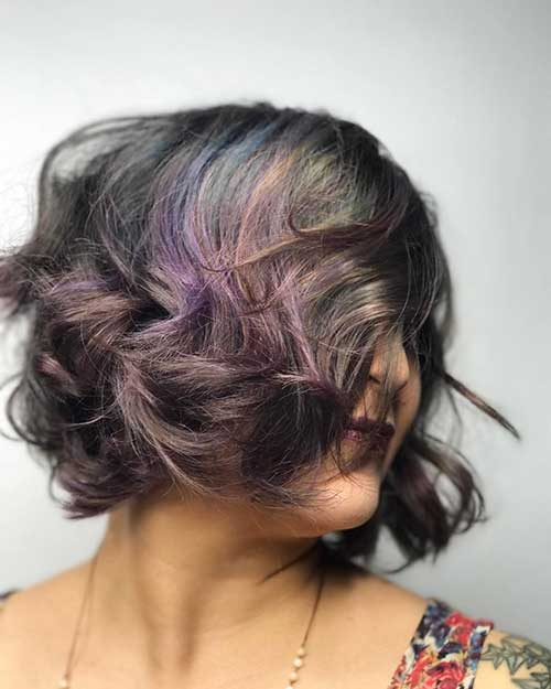 Nice-Color-Shades Alluring Short Curly Hair Ideas for Summertime