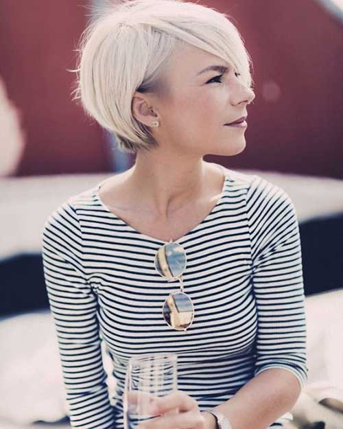 Platinum-Blonde Latest Short Haircuts for Women - Short Hairstyle