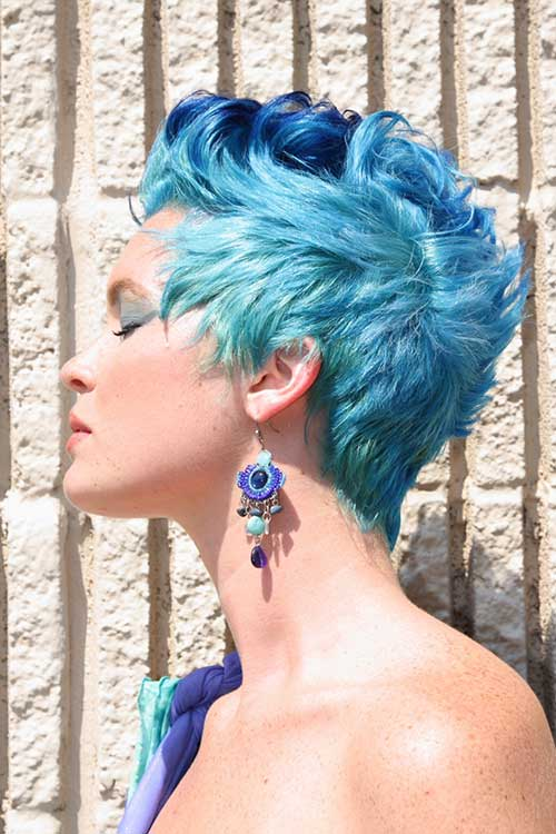 Punk-Short-Blue-Pixie-Hair Best Punky Short Haircuts