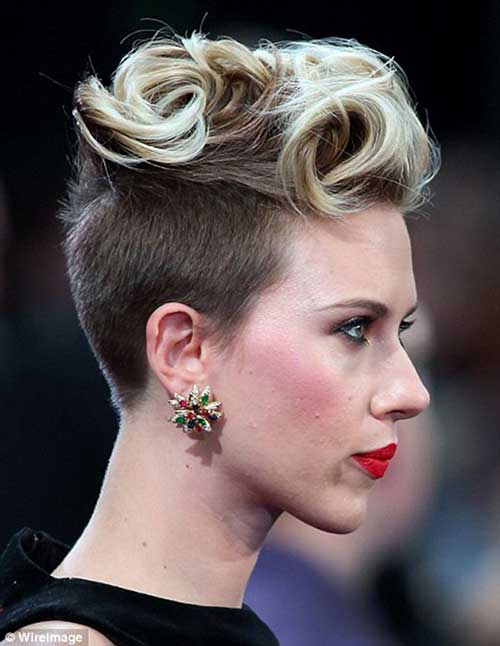 Punk-Short-Curly-Hair-for-Women Best Punky Short Haircuts