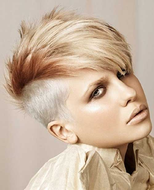 Punk-Short-Two-Colored-Cool-Hair-for-Girls Best Punky Short Haircuts