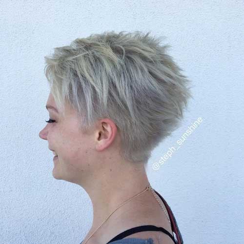 Round-Face-Pixie-Cut Best Pics of Layered Short Hair for Round Face