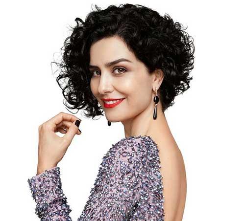 Short-Dark-Gorgeous-Curly-Hair-Style Very Short Curly Hair 2019